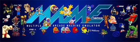 MAME 2 Arcade Marquee Header For Xtension Arcade Cabinet