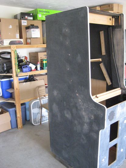 Here Are Some Pictures Of What The Arcade Machine Looks Like Completed  Gutted, Sanded Down And Repaired: