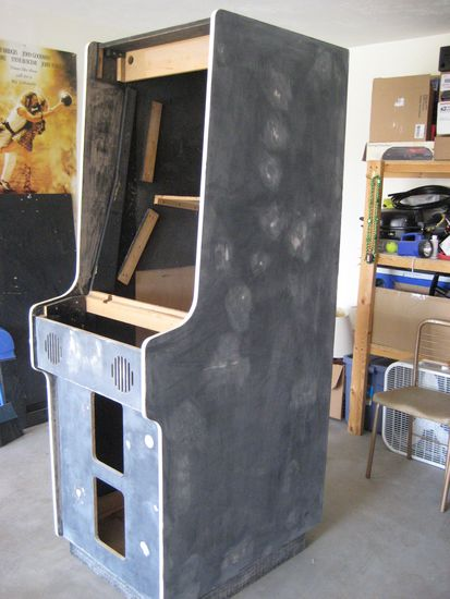 Awesome Here Are Some Pictures Of What The Arcade Machine Looks Like Completed  Gutted, Sanded Down And Repaired:
