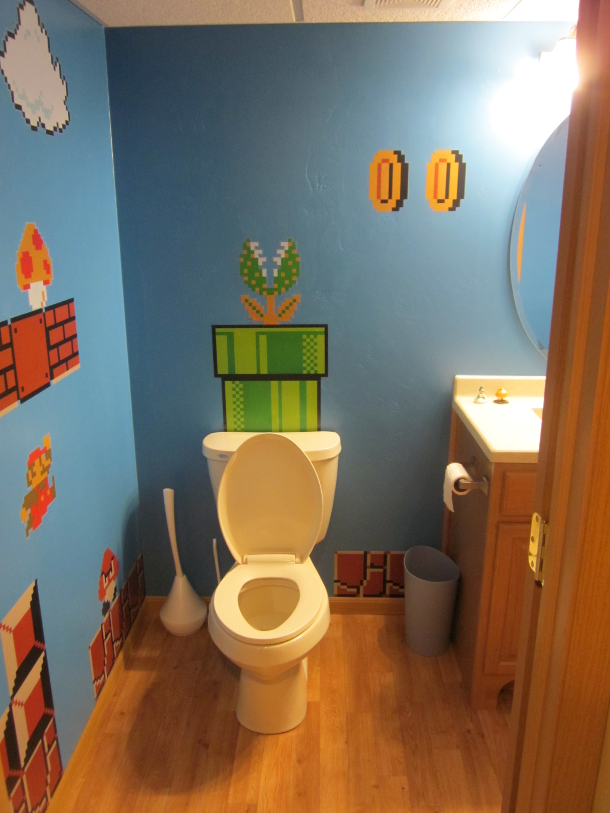 My Nerdy New Bathroom